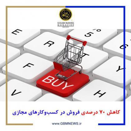 کاهش ۷۰ درصدی فروش در کسبوکارهای مجازی